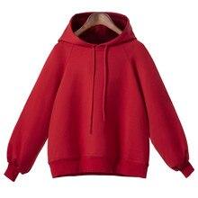 2019 Women Hooded Casual  Lantern Sleeve Sweatshirt Womens Long Loose Thin S-5XL L0718