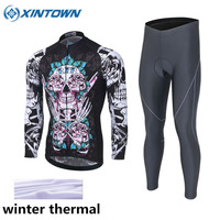 XINTOWN Cycling Set Thermal Fleece Long Sleeves Cycling Jerseys Winter Ropa Ciclismo Keep Warm MTB Bicycle