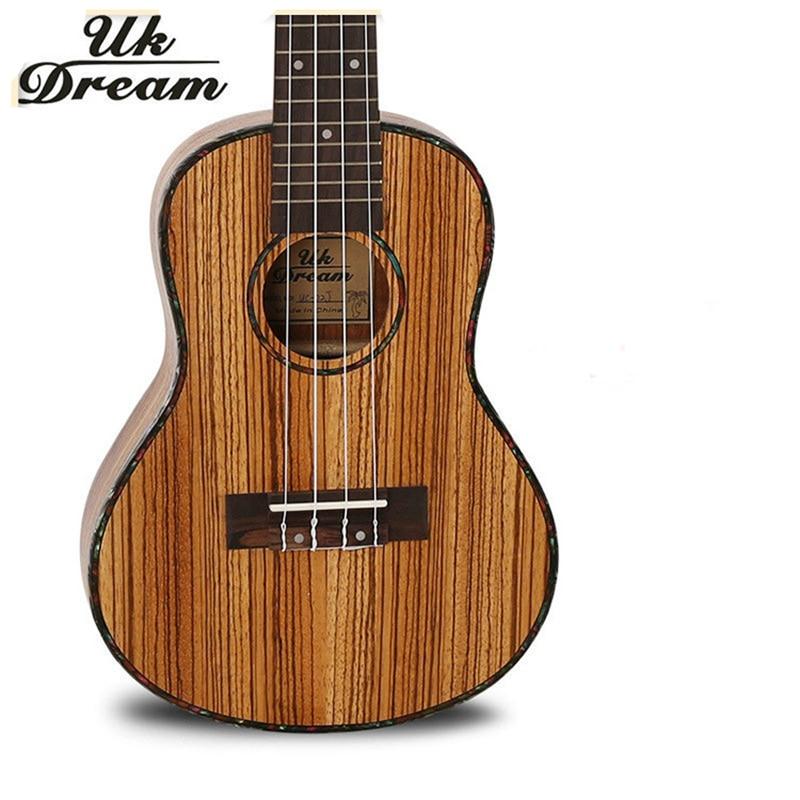 Mini Guitar 23 inch 18 Zebra Wooden Closed Knob Ukulele Small Hawaii 4 String Musical Instruments ukulele UC-22J