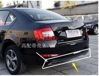 Preto de alta Qualidade PP Difusor Traseiro para carros  Auto lábio traseira Do Carro com linha cromada para skoda Octavia 4dr ou 5dr 2014 2015 2016 2017|Pedais| |  -