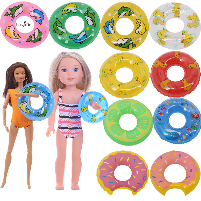 12Color Cute Patterns Lifebuoy Swimming Fit 11.8 Inch Barbie & 14.5 Inch Wellie Wisher Doll Clothes Accessories,Toys,Birthday