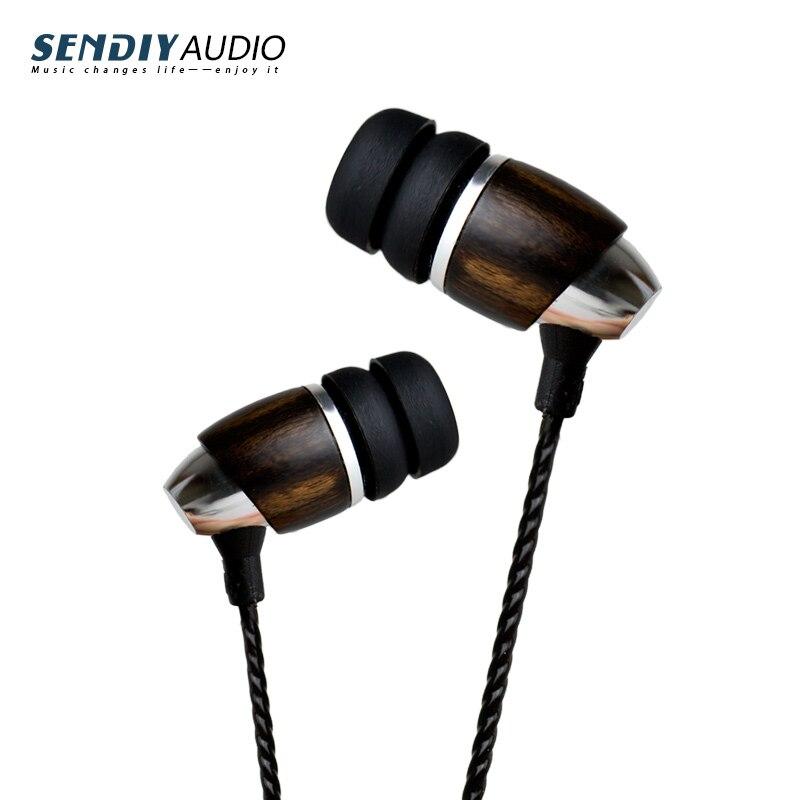 bilder für Sendiy M2 Hallo-End Blackwood Hallo-Res HIFI In Ohr Kopfhörer Earbuds mit dynamische sound