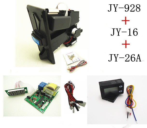 JY928+JY16+JY26A coin operated time control device for cafe kiosk, multi coin selector with 220V timer board and reset counter перчатки shirai jy c6135 308 shrai c6135