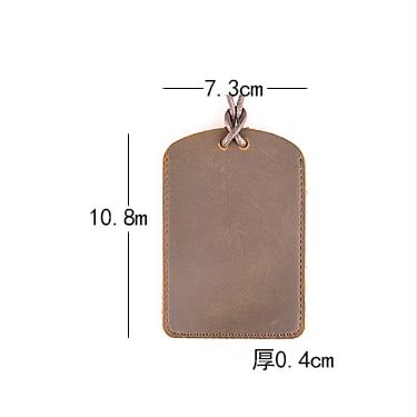 AETOO Handmade leather CARD wallet original cowhide card sets retro simple lanyard bus card bank card access card sets