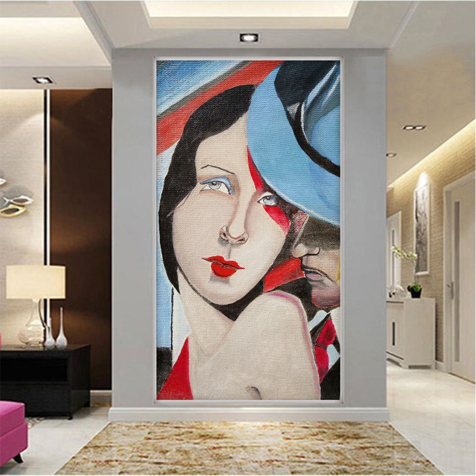 Custom 3D Large Photo Wallpaper Mural Oil painting entrance hallway porch Living Room Bedroom TV Background Wall Decor Mural pink romantic sakura reflection large mural wallpaper living room bedroom wallpaper painting tv backdrop 3d wallpaper