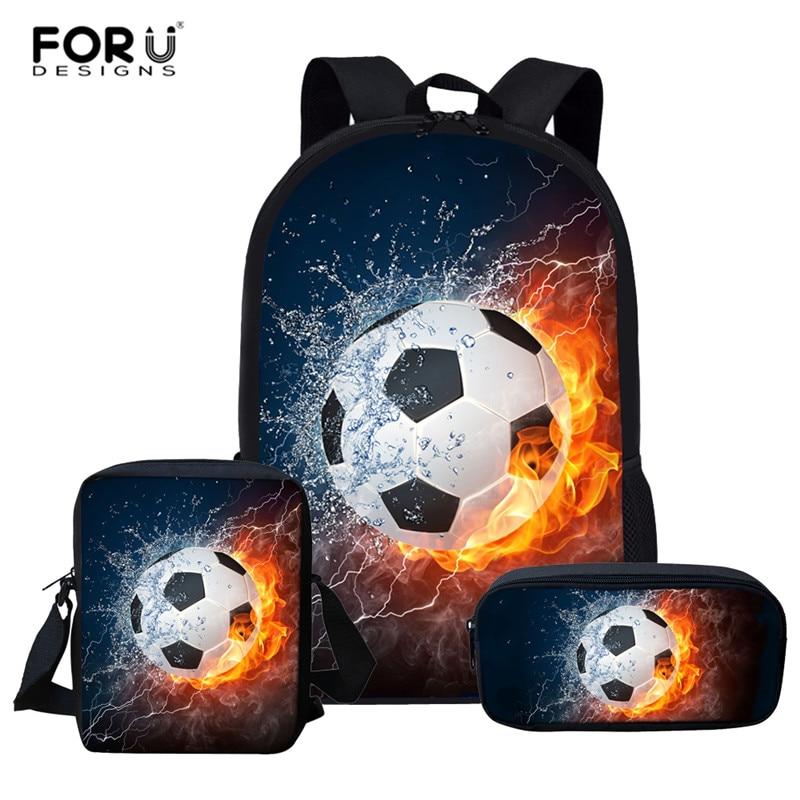 3pcs Children School Bags For Boys Girls Teenagers Backpacks Kids Galaxy Soccer Football Schoolbags Backpack Mochila Infantil