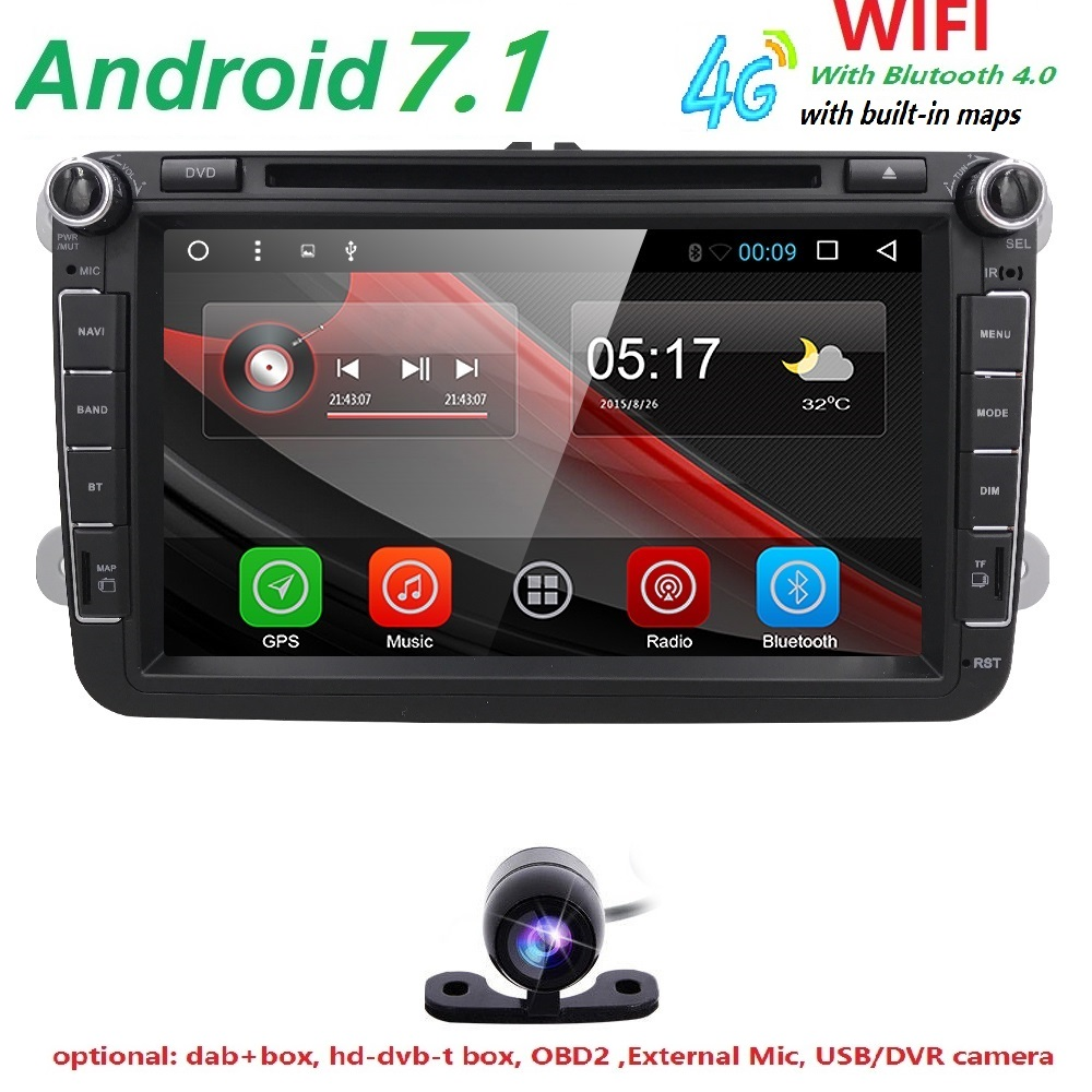 4G 2din Android 6 0 Car Dvd For Vw Passat B6 Golf 4 5 Tiguan Polo