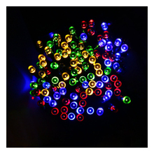 39ft 12m 100 LED Solar Powered LED Ambiance Lighting Fairy String Lights for Outdoor Homes Christmas Party(Multi-Color Lights)