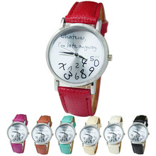 2016 best-selling new High Quality women watch famous brands Women Leather Watch It Does Not Matter I Am Already late Watches