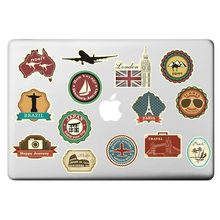 "Hot Vintage Travel Theme Laptop Sticker for Macbook Decal Pro Air Retina 11"" 13"" 15"" inch Mac Cover Skin HP On Notebook Sticker(China)"