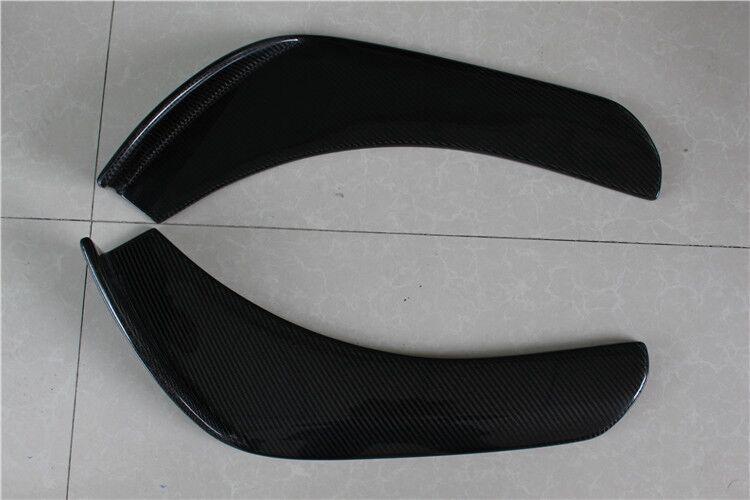 W204 w205 W211 W212 Универсальный углеродного Волокно сбоку Средства ухода за кожей комплект бампера для губ Splitter фартук для mercedes benz