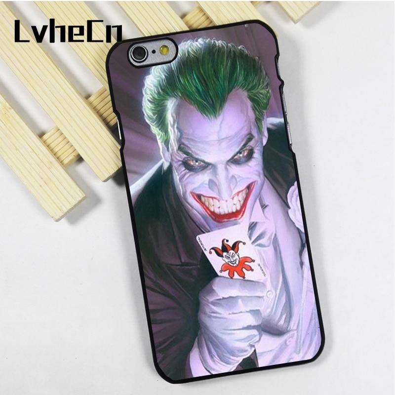 LvheCn phone case cover fit for iPhone 4 4s 5 5s 5c SE 6 6s 7 8 plus X ipod touch 4 5 6 VINTAGE JOKER WITH CARD BATMAN