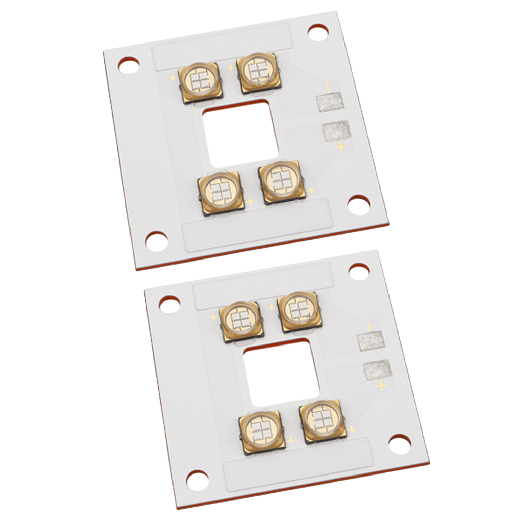 2Pcs 3D Printer 40W UV Curing LED Panel Source Lamp Copper Plate for DLP
