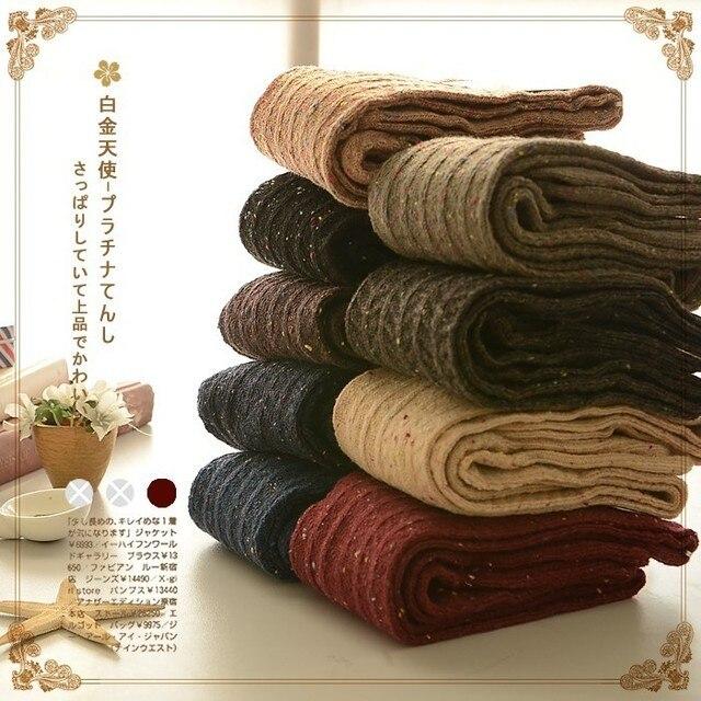 free shipping Color dot stockings Gaotong knee socks female socks piles of socks legs socks Japanese Sen female line 2015 new wi