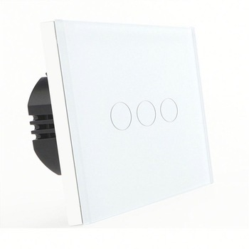 Bseed 240v Touch Switch 3 Gang 2 Way Light Touch Switch With Glass Panel White Touch Wall Switch Eu Uk Us Au k1rf ltech one way touch switch panel ac200 240v input can work with vk remote page 3
