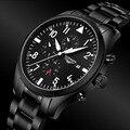 Watches Men 2016 GUANQIN Army Watch Full Steel Sport Military Men Wristwatch Black Automatic Mechanical Wristwatch Luxury Brand