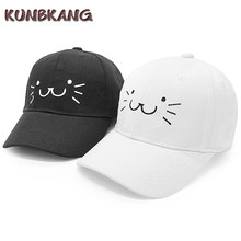 Nuovi Capretti Svegli del Gatto Berretto Da Baseball Delle Ragazze Del Ricamo Snapback Caps Cappello Del cotone Del Sole Baby Boy Estate All'aperto Casuali Dei Bambini Del Fumetto Cap(China)