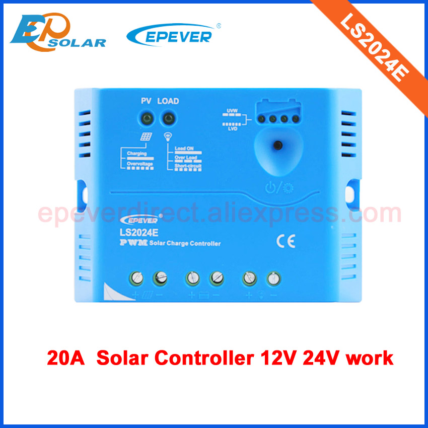 PWM EPsolar LS2024E 20A 20amp 12v 24v auto work solar power bank controller New product! free shippingPWM EPsolar LS2024E 20A 20amp 12v 24v auto work solar power bank controller New product! free shipping