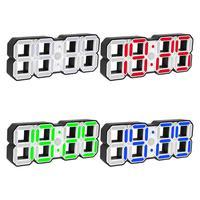 3D LED Digital Electric Alarm Clock Timer Modern Wall Clock USB Charging Intelligent Snooze Alarm Clock 12/24 Hours Home Decor