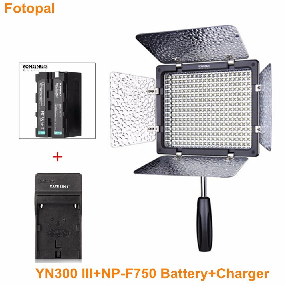 Yongnuo YN300-III Pro LED Video Light for DV Camcorder Canon Nikon Pentax Olympus Samsung Panasonic JVC 3200K-5500K with Battery