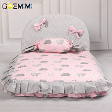 2019 Dog Lovely Bed Comfortable Warm Pet House Print Fashion Cushion for pet Sofa Kennel Top Quality Puppy Mat Pad Bed