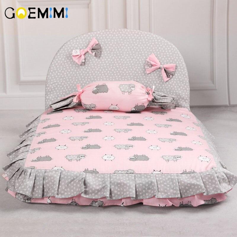 2019 собака прекрасная кровать удобный теплый домик для домашнего питомца Печать Мода подушка для кресло для домашних животных Питомник Высокое качество Щенок коврик