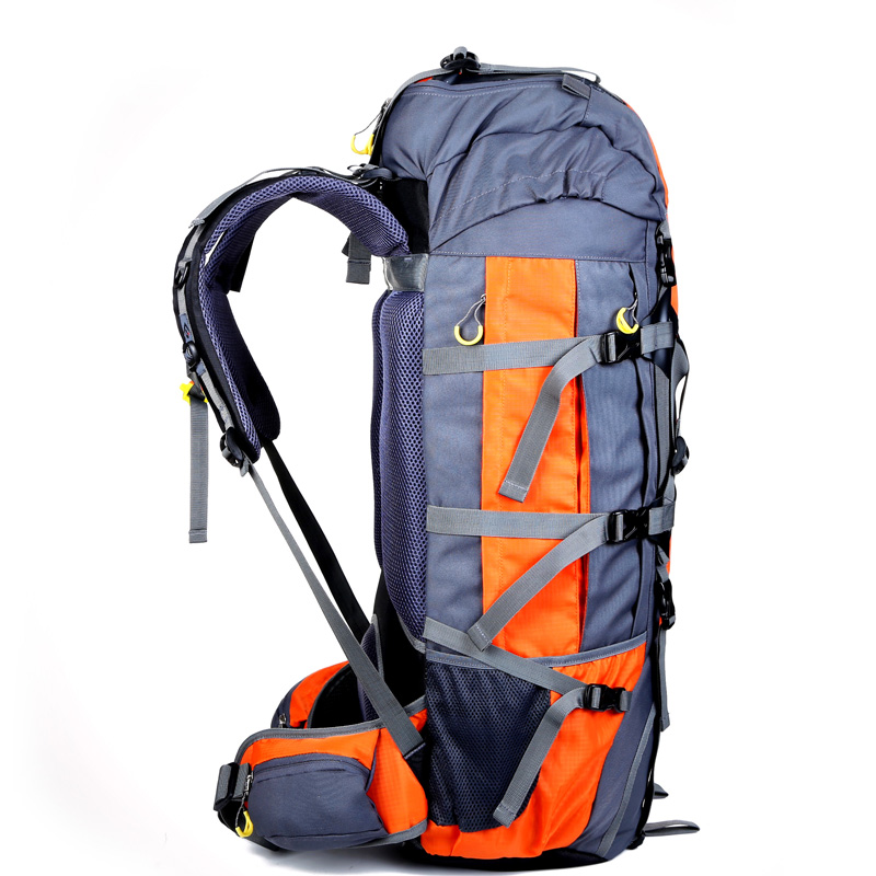 Large 80L Mens Backpacks Waterproof Nylon Travel Backpack Bag Women Travel Rucksack Bag Backpack