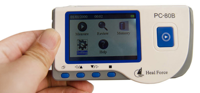 Household Health Monitors Heal Force PC-80B ECG Monitor Measuring Heart Cardiac Detector LCD Electrocardiogram Heart Monitor 8
