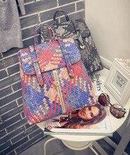 Весной 2016 Корейской версии новой моды цвет тканые рюкзак рюкзак досуг девушки