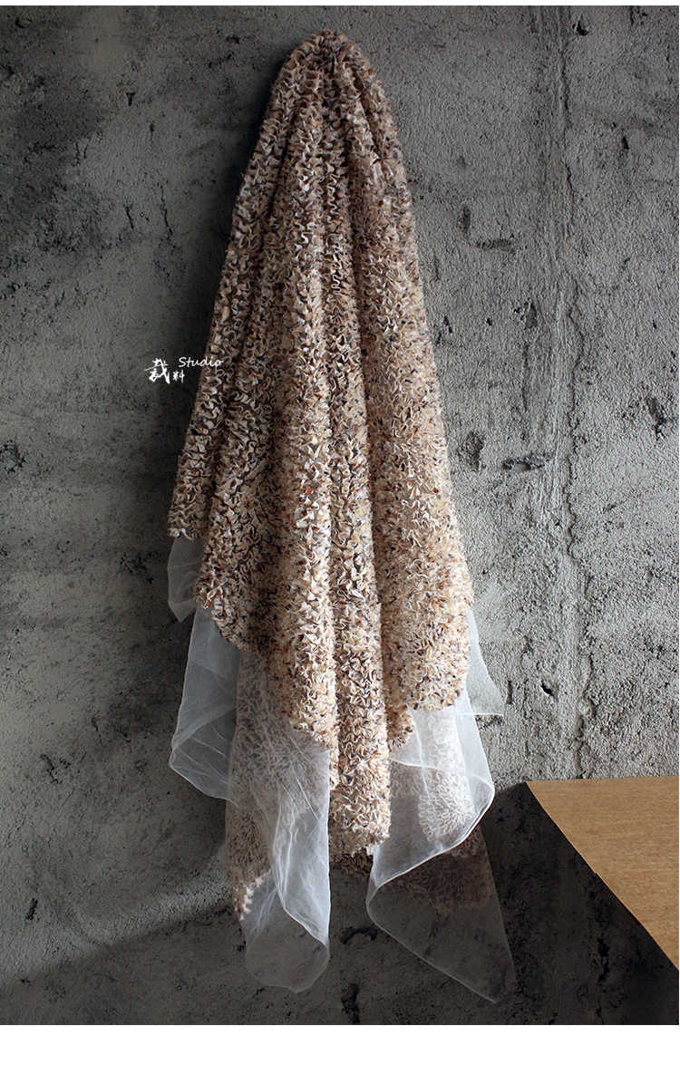 f6aef4c57f1 ... Mystery Italianhigh-end stereo texture mesh designer cloth faux fur  fabric Wedding Dress Tulle Material ...