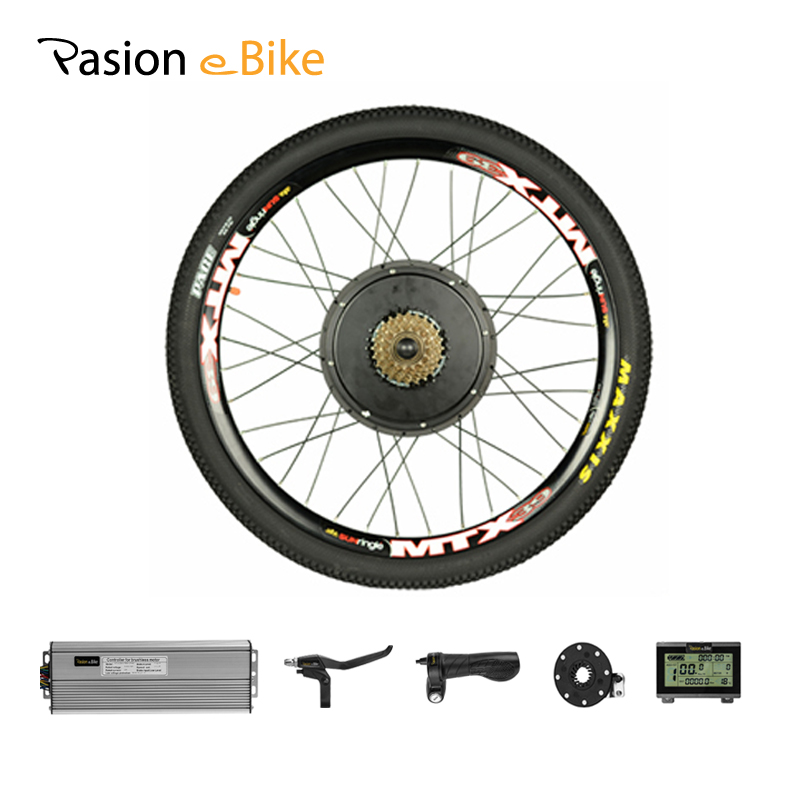 PASION E BIKE Conversion Kit 48V 1500W Motor Electric Bicycle Bike Conversion Kit for 26 Rear Wheel E Bike 48V Kit Hub Motor waterproof electric bike conversion kit system for 36v250w 350w hub motor kit