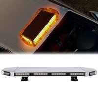 27 Amber Emergency Warning Security Strobe Professional Extreme High Intensity Low Profile Roof Top Light Bar for SUV CAR TRUCK