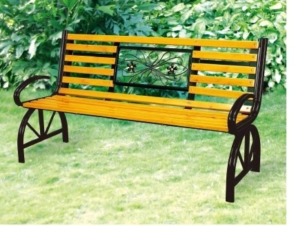 Landscaped Park Bench Chair Chairs Park Chairs Cast Iron Wood