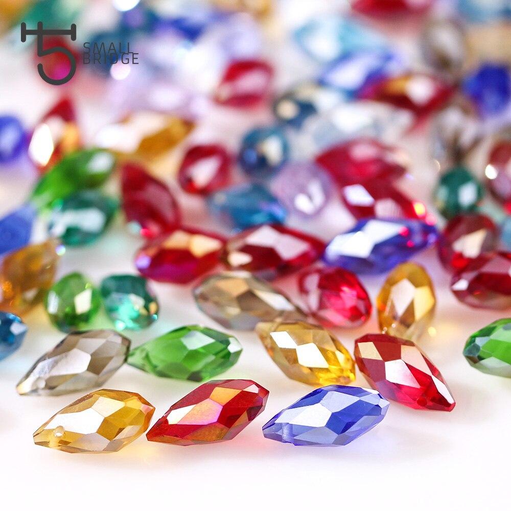 Teardrop Crystal Bead (4)