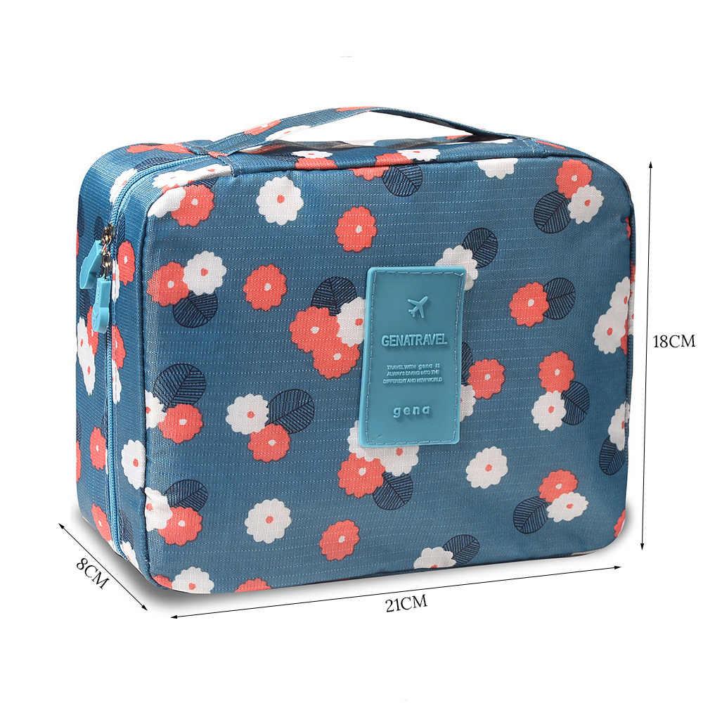 ... Cosmetic Bag Travel Folding Toiletry Bag Portable Multi-layer Mesh  Cosmetic Brush Makeup Travel Storage 1d0aa98e20c84