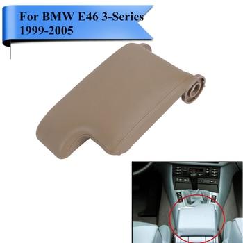 Tapa de reposabrazos de cuero Beige PU, cubierta de reposabrazos para BMW E46 M3 320i 323i 325i 328i 330i 1999-2005, diseño de coche. # Caso