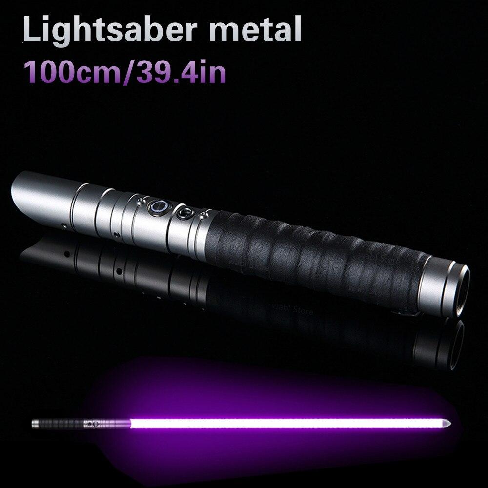 Sable de luz de Metal espada de Metal Cosplay Boy Gril Espadaes Star Toy láser intermitente niños luz Saber LED Luke juguetes regalo