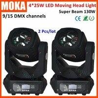 2 Pcs/lot Gobo 8 Lens Rotation 4*25W Disco Nightclub Led Sharply Moving Spot Beam Head Light