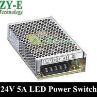 1 × 120 واط 24 فولت 5a ادى امدادات الطاقة امدادات الطاقة محول سائق قاد قطاع ضوء العرض AC110V 240V قطاع محول شحن مجاني|supplies shop|supplies bindingdriver ccd -