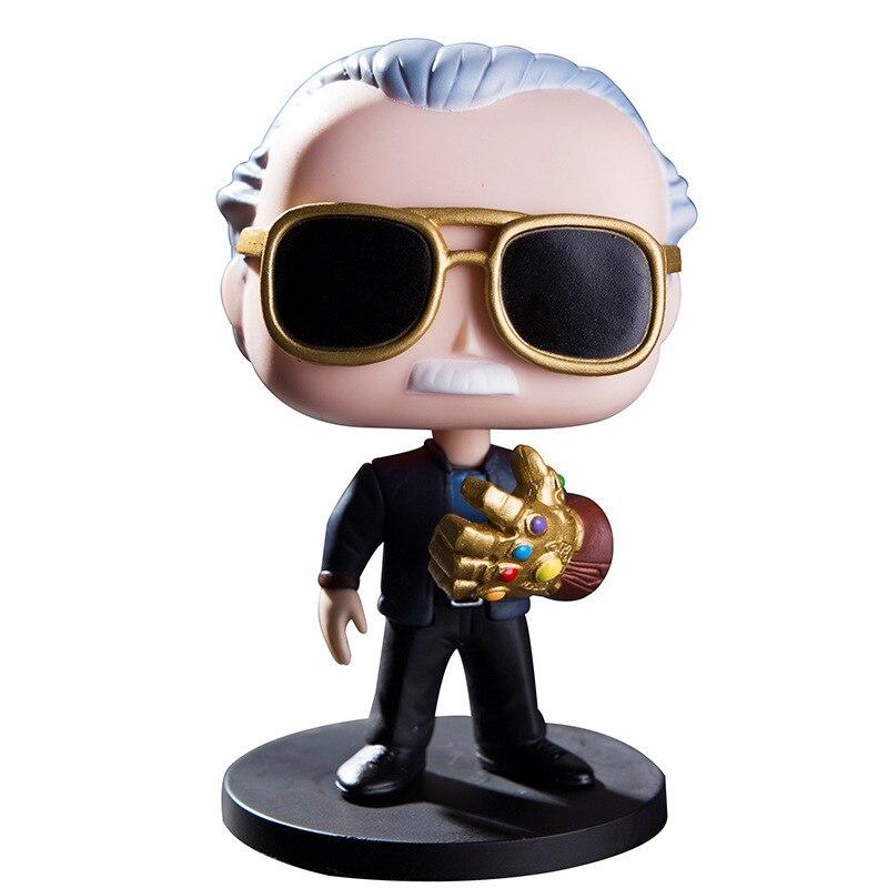 Marvel Avengers Stan Lee With Infinity Gauntlet #01 Funko POP PVC Figure Gift DE