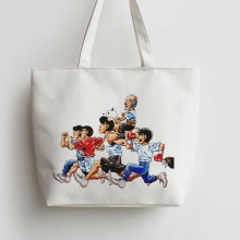 Anime Hajime No Ippo Japanese Canvas Tote bags Cartoon Shopping bag  Shopper Grocery Bag GA831