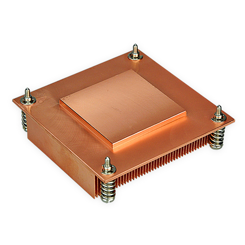 Купить с кэшбэком Heatsink Computer 1U passive solution Copper Form-relieved tooth Screw and Spring 4pins PWM Function CPU Slots radiator C5-01