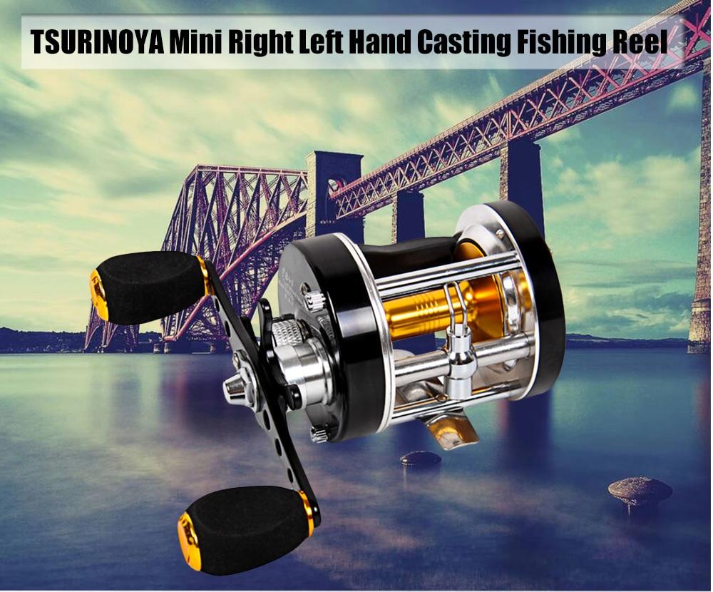 TSURINOYA Portable Fishing Reels Bait Casting 5:2:1 Right Left Hand Drum Fishing Reel 5:2:1 Gear Ratio Fishing Wheel