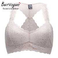 Burvogue Women S Sexy Lace Bras Racerback Wireless Push Up Seamless Bras Unpadded Bralette Bustier Breathable