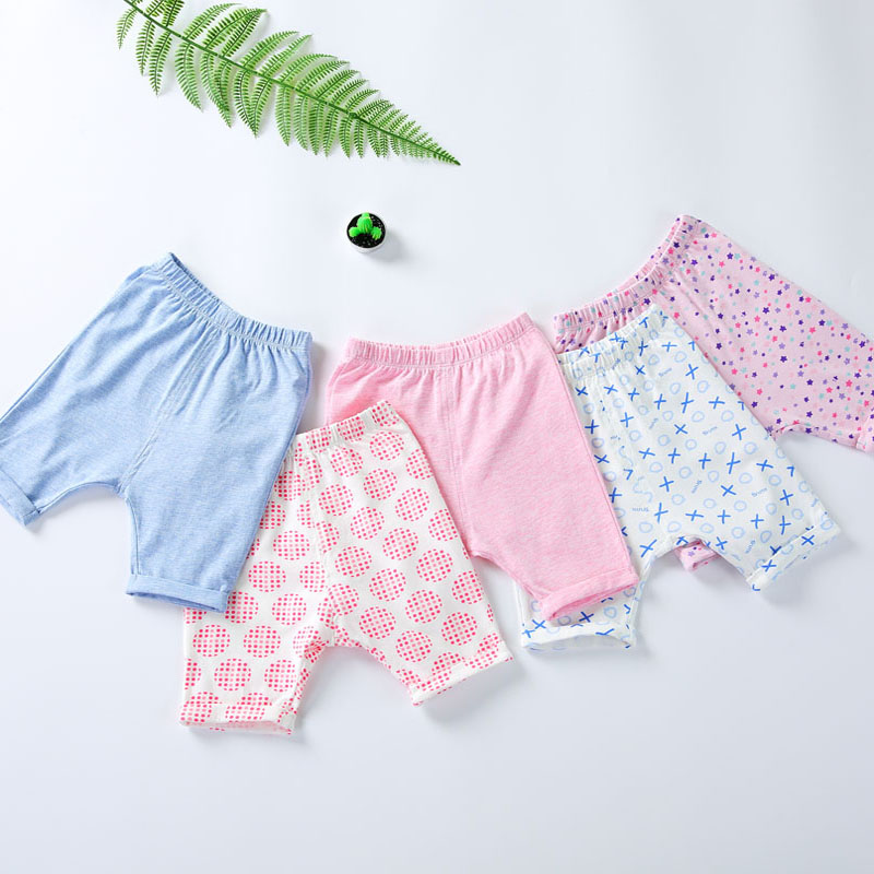 2pcs clothes baby pants 100% cotton trousers baby clothes kids pants summer and spring seven pants children capri trousers