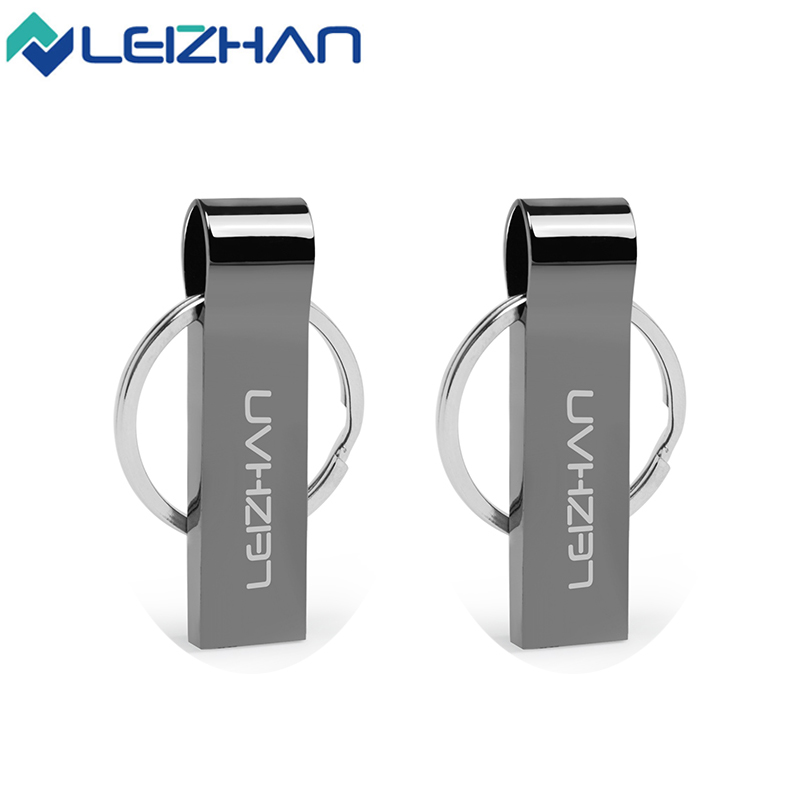 LEIZHAN USB Flash Drive Waterpoof USB Flash Drive Металла Серебряного пера drive 4 ГБ 8 ГБ 16 ГБ 32 ГБ U Диск Флешки Памяти USB 2.0 Stick