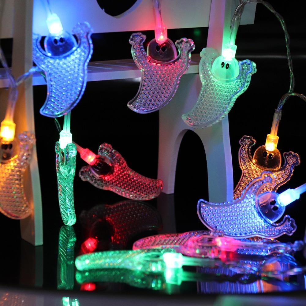 Halloween Props 1M LED Strenge Lys Holiday Creative Dekorative Lights - Ferie belysning - Foto 4