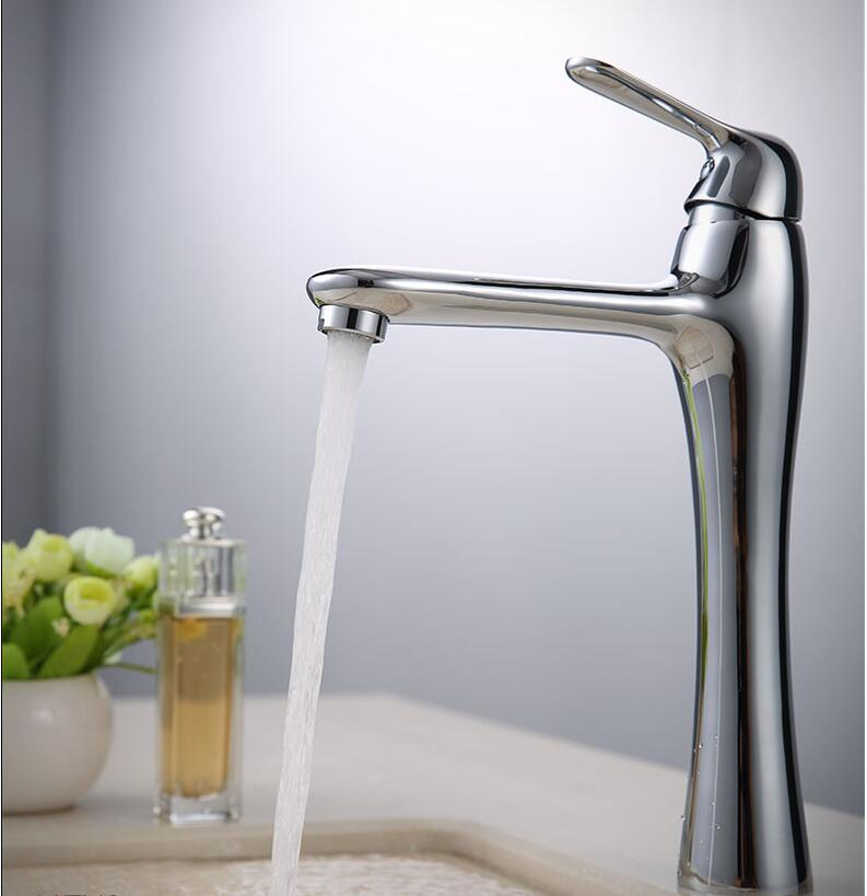 Top high quality brass single lever chrome single lever hot and cold bathroom high sink tap basin faucet new arrival high quality brass green and chrome finished single lever bathroom single lever sink tap basin faucet