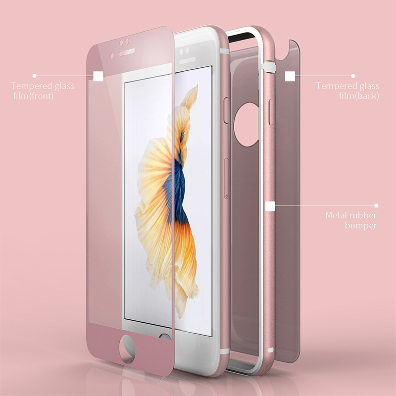 online store b3395 51b69 US $9.98 |Roybens 360 Full Body Ultra Thin Shockproof Phone Cases for  iPhone 6S Case for iPhone 6S Plus PC Soft Silicone + Tempered Glass-in  Fitted ...