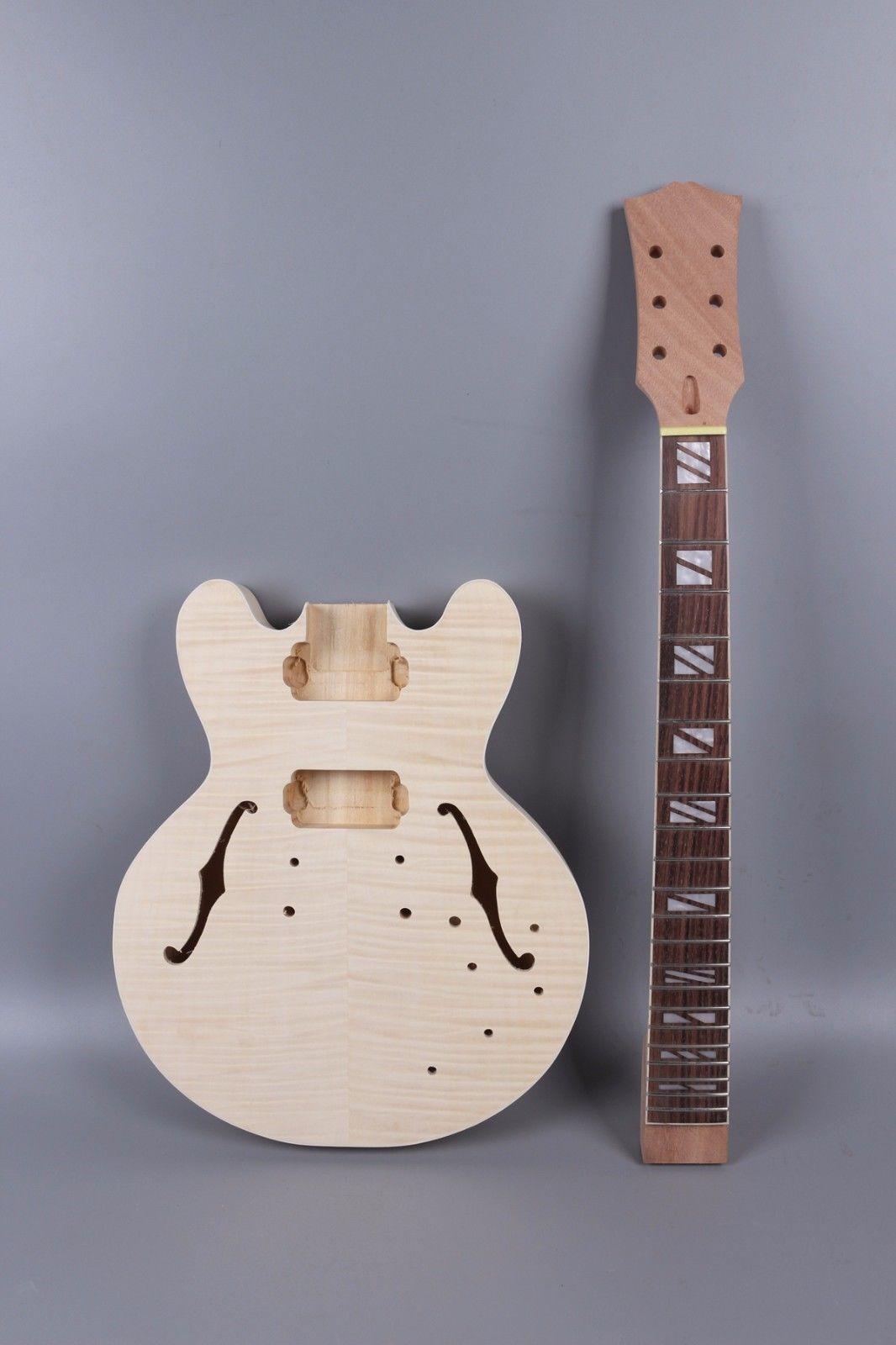 Yinfente guitare électrique corps guitare électrique cou acajou érable palissandre Fretboard bois massif guitare pièces